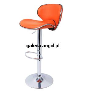 Hoker Barowy Krzesło Barowe Hokery Do Kuchni Rossi Kolor Pomarańczowy